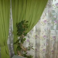 Draperie verde